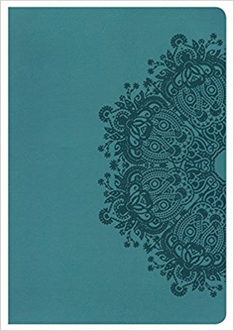 KING JAMES VERSION GIANT PRINT REFERENCE BIBLE, TEAL LEATHER