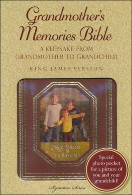 KJV GRANDMOTHER'S MEMORIES BIBLE AUTUMN BROWN LEATHER COVER