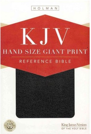 KING JAMES VERSION HOLMAN HANDSIZE GIANT PRINT REFERENCE BIBLE, BLACK