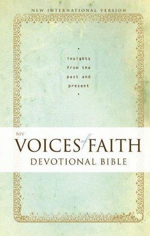 NIV Voice of Faith Devotional Bible Hard Cover