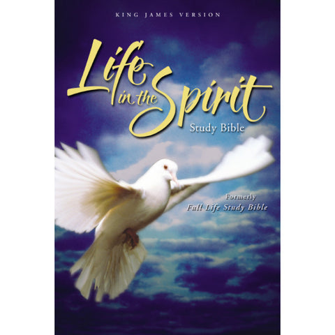 KJV-LIFE IN THE SPIRIT LEATHER BURGUNDY