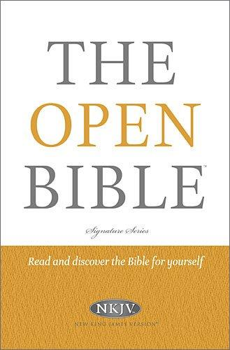NKJV THE OPEN BIBLE HARD COVER