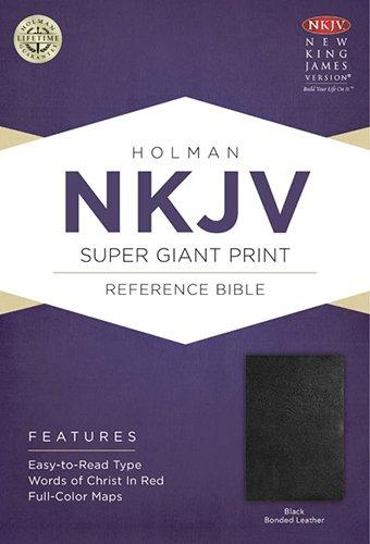 NKJV SUPER G/P REF. BIBLE BLACK BONDED LEATHER