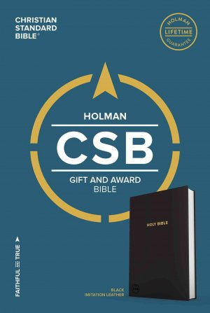 CSB HOLMAN GIFT & AWARD BIBLE BLACK IMITATION LEATHER