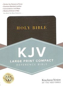 KING JAMES VERSION HOLMAN LARGE PRINT COMPACT REFERENCE BLACK BONDED