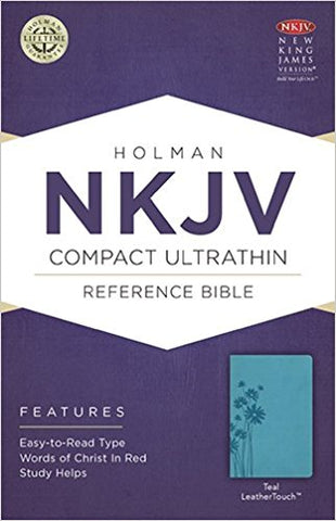 NKJV COMPACT ULTRATHIN BIBLE TEAL LEATHERTOUCH
