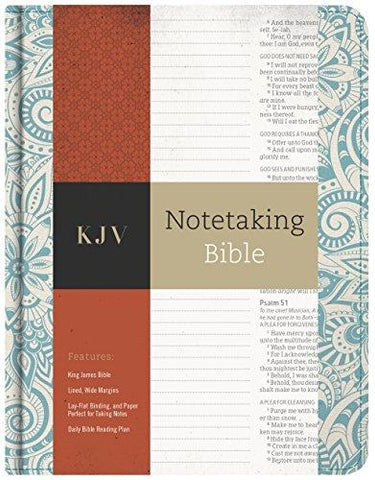 KJV Notetaking Bible, Blue Floral
