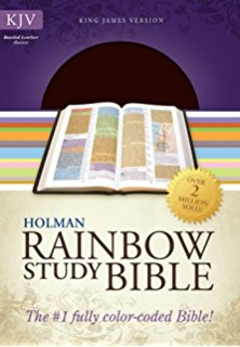 KJV HOLMAN RAINBOW STUDY BIBLE LEATHER COVER BOLD LINE EDITION