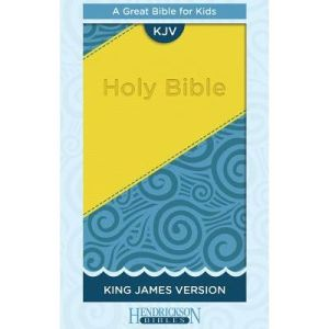 KING JAMES VERSION KIDS BIBLE - YELLOW/BLUE (A GREAT BIBLE FOR KIDS) LEATHER COVER