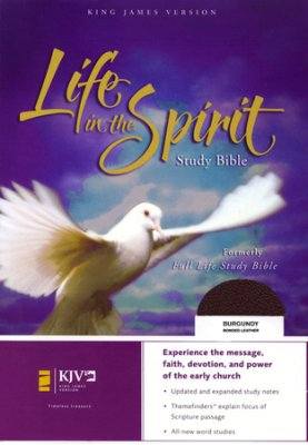 KJV-LIFE IN THE SPIRIT Study Bible, L/C, BURGUNDY