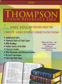 THOMPSON CHAIN REF BIBLE. KJV BLACK BONDED