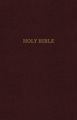 KING JAMES VERSION, Super Giant Print Reference Bible, Burgundy Leatherflex