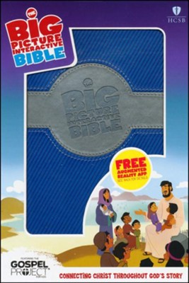 HCSB Big Picture Interactive Bible, Blue/Silver LeatherTouch