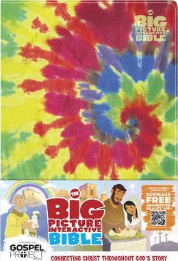 Big Picture Interactive Bible For Kids, Multicolor Tie-Dye Leathertouch