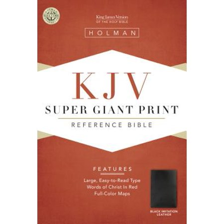 KJV Super Giant Print Black Imitation Leather