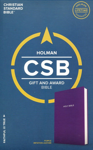 CSB Gift & Award Bible, Purple Imitation Leather
