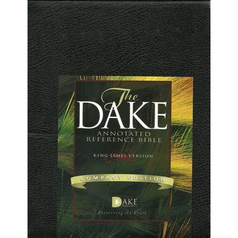KJV THE DAKE ANNOTATED REFERENCE COMPACT BLACK BONDED