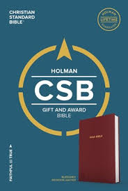 CSB HOLMAN GIFT & AWARD BIBLE, BURGUNDY IMITATION LEATHER
