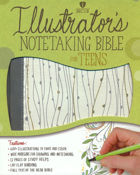 HCSB Illustrator's Notetaking Bible for Teens Imitation Leather