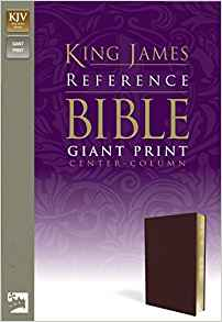 KJV REF BIBLE GIANT PRINT CENTER COLUMN PREMIUM BURG ((ZONDERVAN)