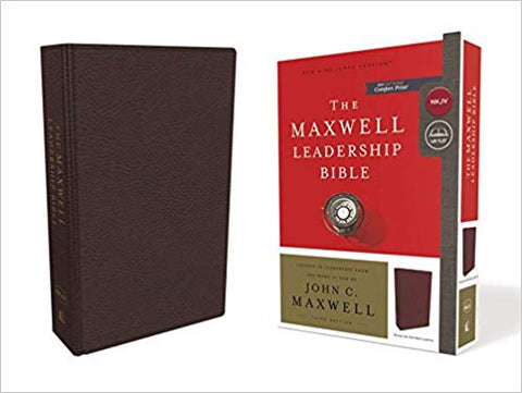 NKJV, Maxwell Leadership Bible, Third Edition, Premium Bonded Leather, Burgundy,