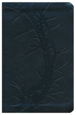 NKJV LARGE PRINT COMPACT REFERENCE BIBLE, CHARCOAL LEATHERTOUCH