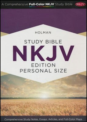 Holman Study Bible: NKJV Edition Personal Size, Smoke/Slate LeatherTouch Imitation Leather