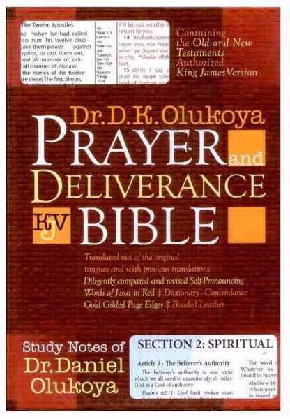 KJV Prayer & Deliverance Bible Compact Size Leather Cover