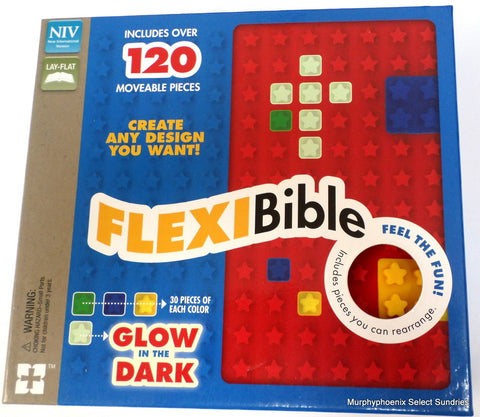 NIV FLEXI BIBLE RED STARS, FLEX COVER WITH MOVEABLE PIECES