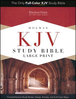 KJV Study Bible Large Print Edition, Saddle Brown LeatherTouch