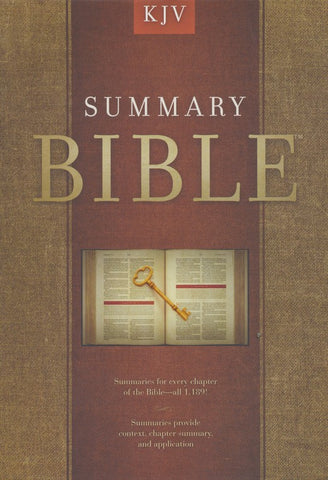 KING JAMES VERSION Summary Bible, Charcoal Cloth Over Board
