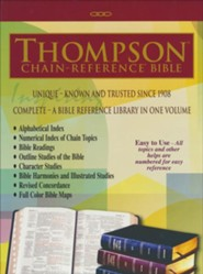 KJV Thompson Chain-Reference Bible, Large Print, Black Bonded Leather, Thumb Indexed