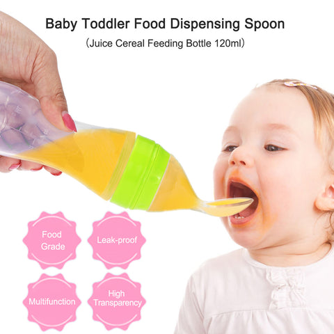 Newborn Bottle with Food Dispensing Spoon