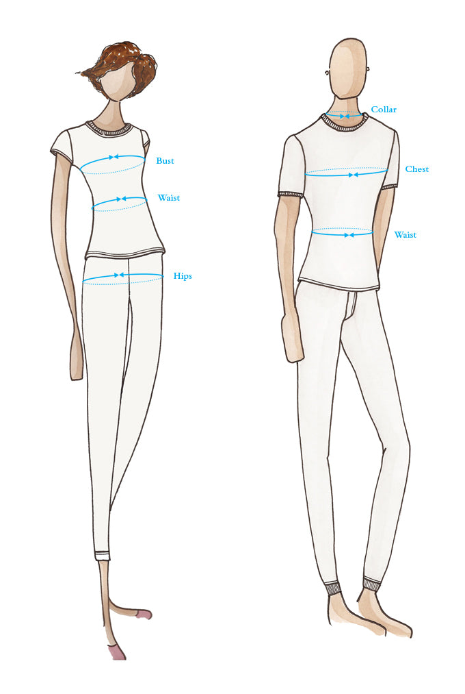 Clothing Sizing Diagram