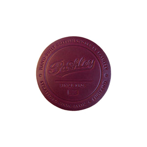 Leather Coaster - Maroon