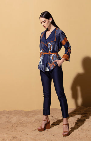 Kusafiri Navy Throwover with Bodysuit