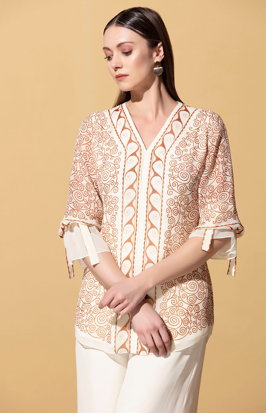 Ivory Blouse in Georgette