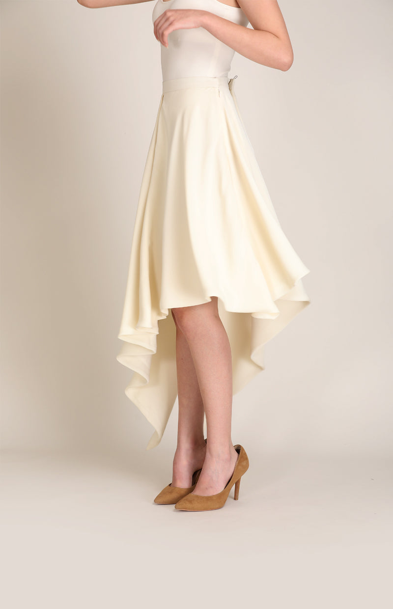 Ivory Skirt in Heavy Georgette