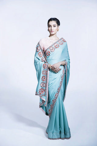 SEA GREEN SAREE WITH BLOUSE | PRODUCT ID: 2306