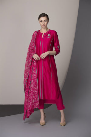 Fuchsia Tunic Set-2332