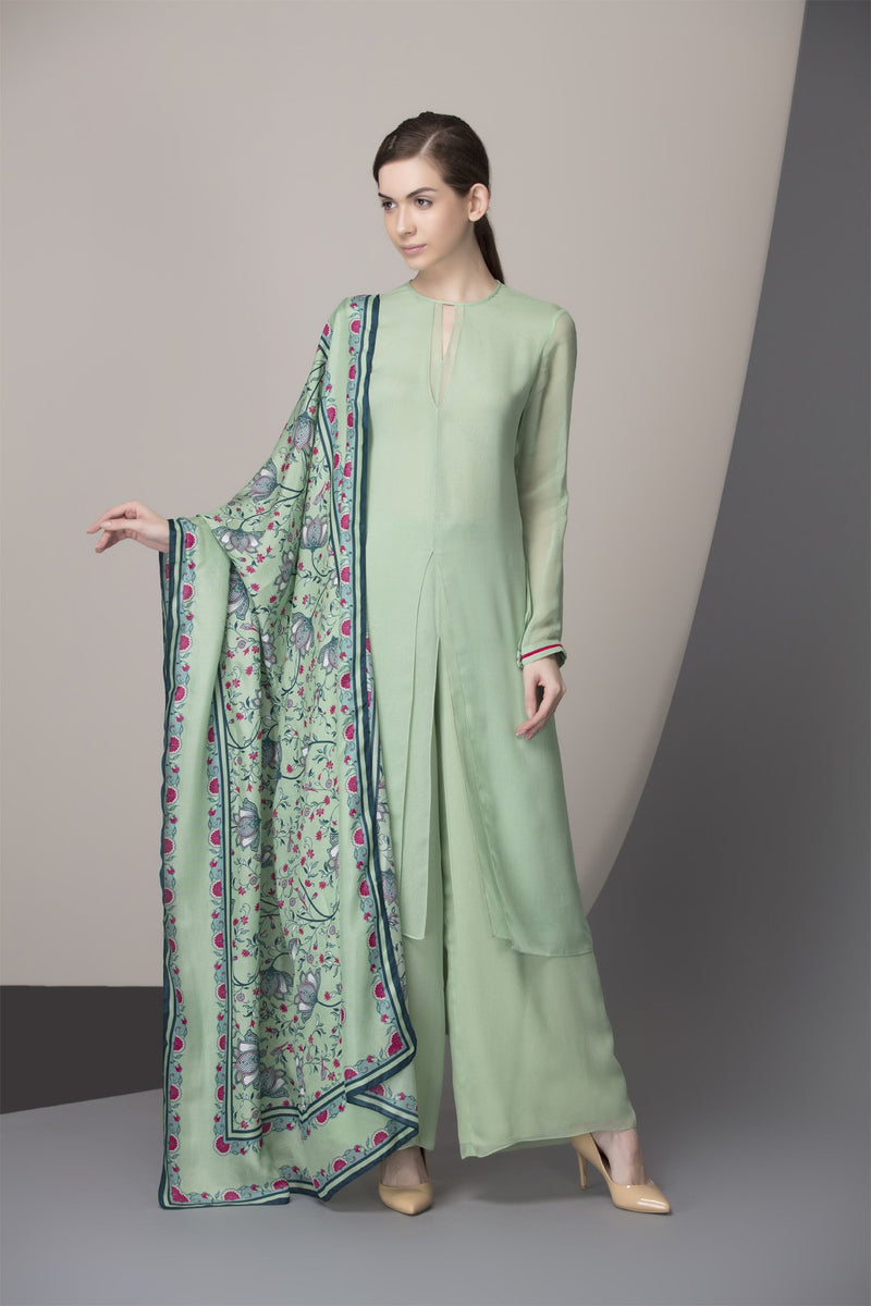 Green Apple Digital Printed Dupatta Churidar Kurta- 2432