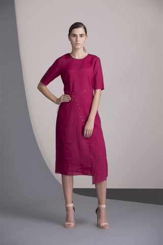 Mulberry Wrap Dress In Linen - 2455