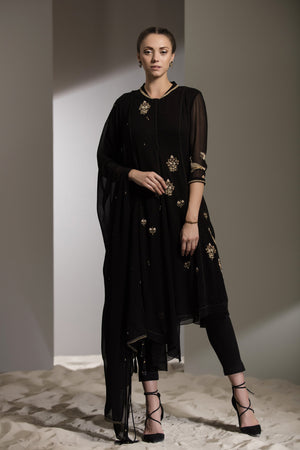 Gold Embroidered CKD-2467-BLACK