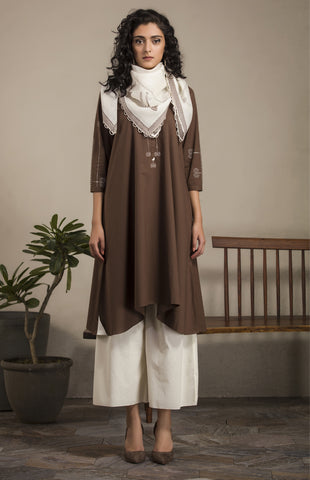 BROWN TUNIC SET-2638
