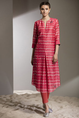 SHIBORI WORK TUNIC SET-2700-WATER MELON