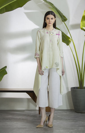 Light Mint Shirt In Linen-2832