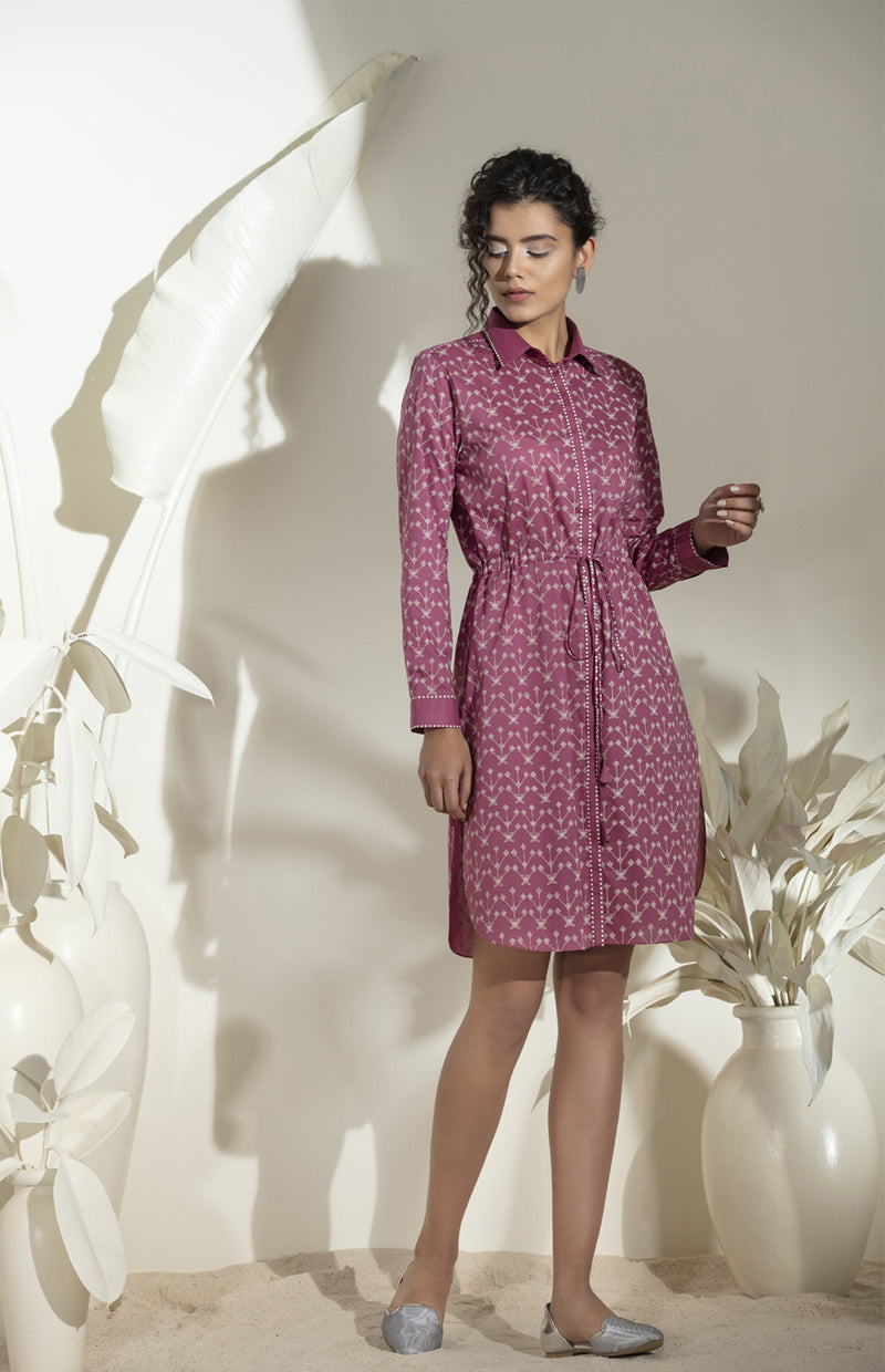 Falsa Digital printed Shirt Dress -3561