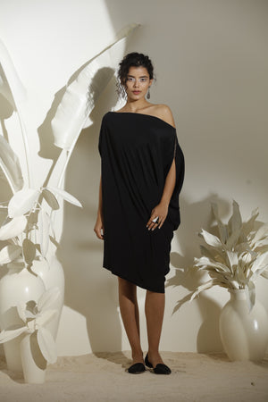 Black Dress In Crepe - 3591