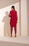 Mulberry Tunic Set In Georgette - 4099