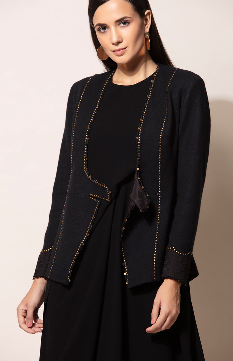 Evergreen Black & Gold Fancy Jacket